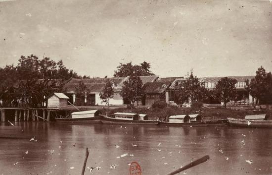 Bến thuyền ở Sa Đéc, Đồng Tháp.