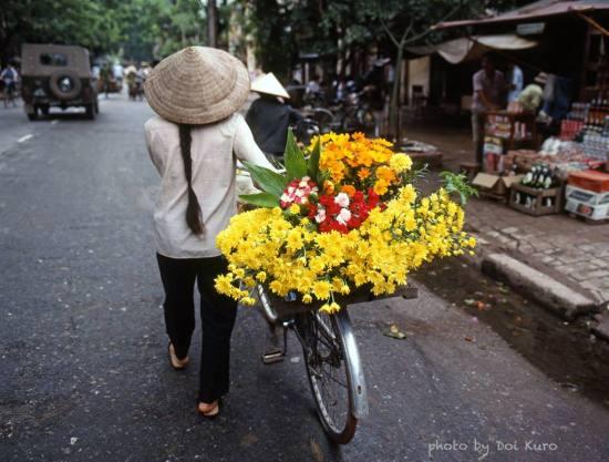 Gánh hàng hoa Hà Nội.