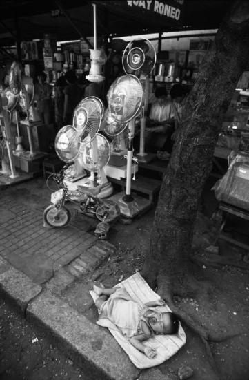 """Những chiếc quạt cây nhập ngoại được bày bán tại các cửa hàng và dần dần trở thành vật dụng phổ biến, xóa bỏ sự thống trị của thế hệ quạt con cóc, quạt tai voi được """"xách"""" về từ Liên Xô."""