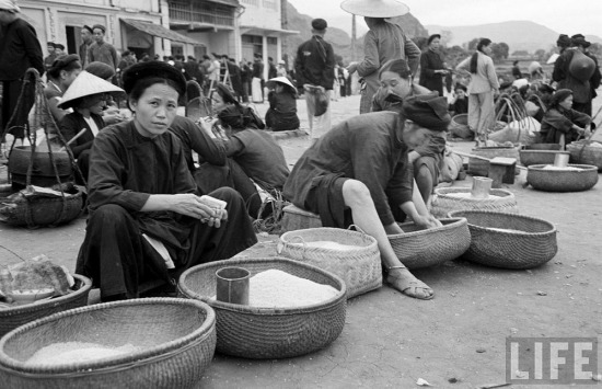 Khu vực bán gạo.