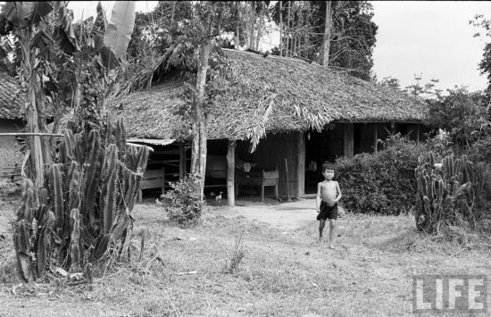 Ngôi nhà đơn sơ ở vùng quê nghèo Lạng Sơn.