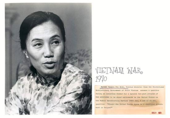 """""""Madame"""" Nguyễn Thị Bình tại Paris tháng 12/1970"""
