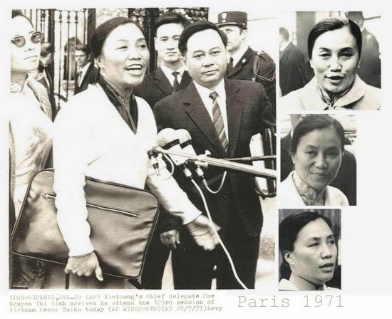 Những sắc thái khác nhau của bà Nguyễn Thị Bình khi trả lời báo chí tại vòng đàm phán thứ 123 vào ngày 29/7/1971.