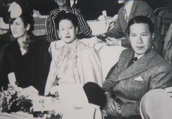 Nam Phương Hoàng Hậu và vua Bảo Đại tại Pháp năm 1938.