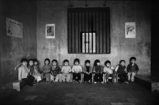Trẻ em trong một trường mẫu giáo ở nông thôn.