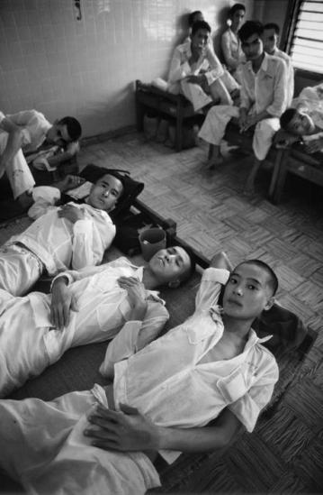 Các học viên trong trường giáo dưỡng Bình Triệu.