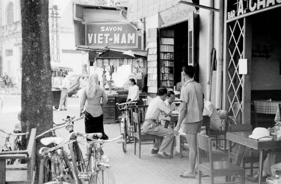 Quán trà ở góc phố ngày nay là ngã tư Lê Thánh Tôn - Nguyễn Trung Trực.
