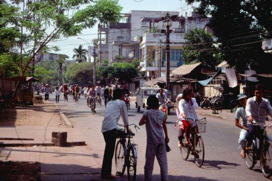 Những chiếc xe đạp trên đường.