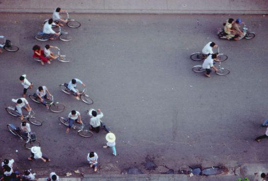 Góc chụp độc đáo về những chiếc xe đạp Sài Gòn.