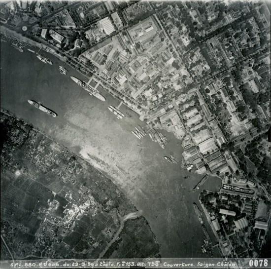 Sông Sài Gòn ở khu vực trung tâm thành phố.