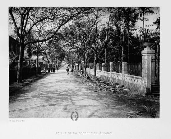 Phố Nhượng Địa (Concession) ở Hà Nội, ngày nay là phố Phạm Ngũ Lão.