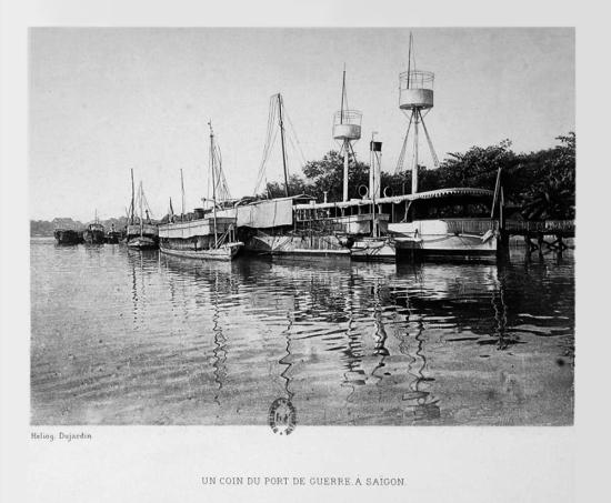 Quân cảng tại Sài Gòn.