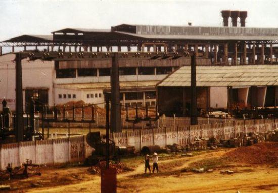 Nhà máy cán thép Gia Sàng vào năm 1974.