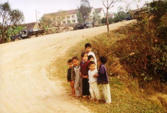 Trẻ em ở Phú Xá, Thái Nguyên.