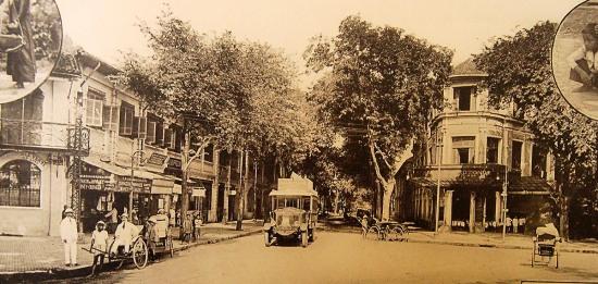 Tiệm cà phê La Rotonde trên đường Catinat (Đồng khởi).