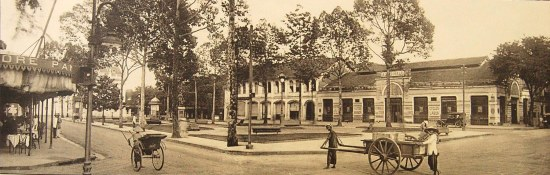 Một góc Tòa đô chính nhìn từ đường Bonnard (Lê Lợi).