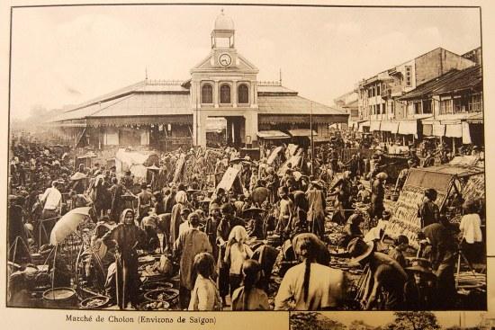 Khu vực buôn bán ở Chợ Lớn.