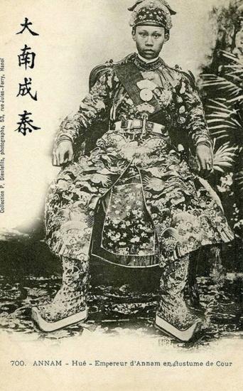 Chân dung vua Thành Thái (1889-1907) trong bộ triều phục