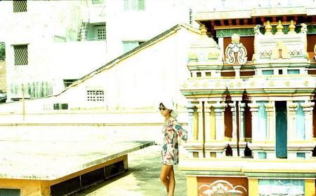 Trên sân thượng đền Ấn giáo