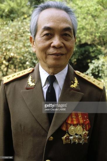 Chân dung Đại tướng Võ Nguyên Giáp trong quân phục năm 1983.