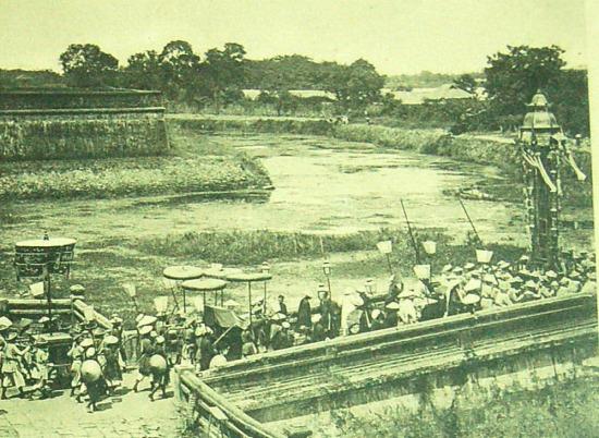 Một đám tang của hoàng tộc ở Huế.