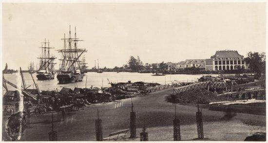 Thương cảng Sài Gòn năm 1866, 2 năm sau khi được xây dựng.