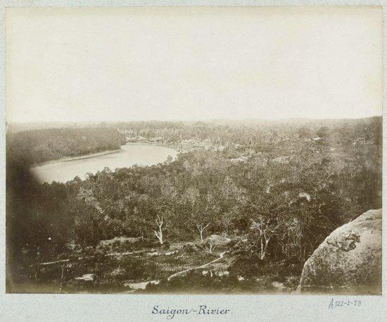 Sông Sài Gòn khoảng năm 1870.