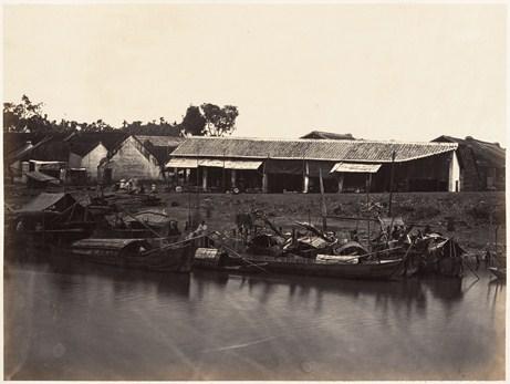 Một phần bức arnh panorama của kênh Tàu Hủ đoạn chảy qua Chợ Lớn.