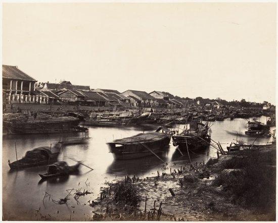 Một phần bức ảnh panorama của kênh Tàu Hủ đoạn chảy qua Chợ Lớn
