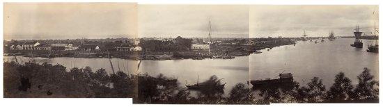 Ảnh panorama của khu vực Thương cảng Sài Gòn.