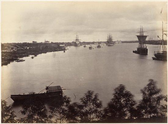 Một phần bức ảnh panorama của khu vực Thương cảng Sài Gòn.