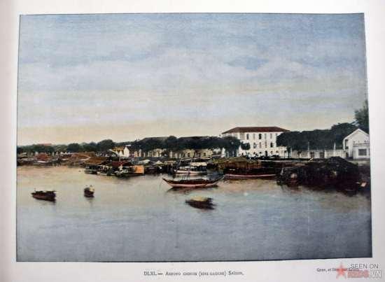 Thuyền bè trên sông Sài Gòn.