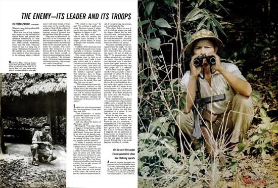"""Bài viết có tựa đề """"Kẻ thù - lãnh đạo và binh sĩ của họ"""", là bài cuối trong loạt bài của nhà báo người Nhật Akihiko Okamura thực hiện trong khoảng thời gian tác nghiệp tại căn cứ của quân đội Giải phóng, nằm trong một khu rừng vùng Đông Nam bộ."""