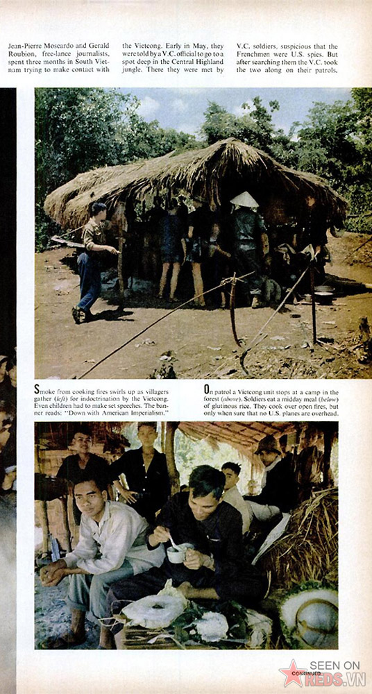Trên hành trình tuần tra, những chiến binh Giải phóng nghỉ chân tại những trạm nằm giữa rừng. Họ ăn xôi vào bữa trưa. Việc nấu nướng thực hiện bằng bếp lửa, khi chắc chắn rằng máy bay Mỹ không lởn vởn trên đầu.