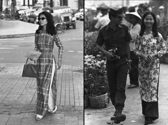 Những tà áo dài trên đường phố Sài Gòn, 1963 và 1973.