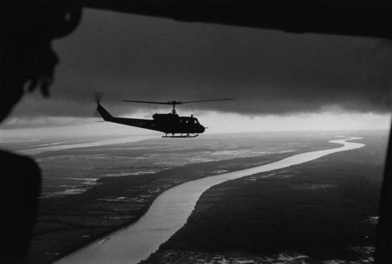 Khung cảnh đồng bằng sông Cửu Long nhìn từ máy bay trực thăng, 1963.