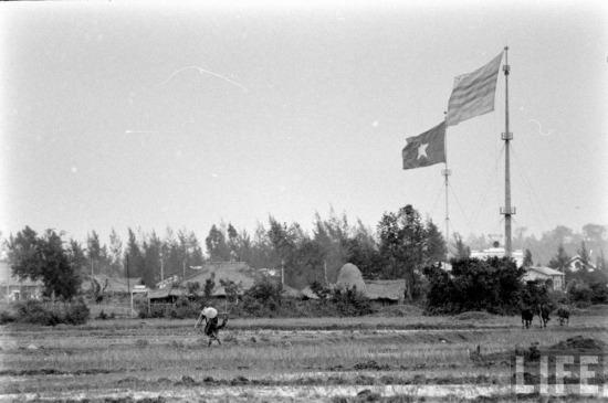 """Không ồn ã nhưng, vô cùng quyết liệt là cuộc """"đấu cờ"""". Từ năm 1954-1967, giữa hai đầu cầu Hiền Lươngđã có cuộc """"chạy đua"""" về chiều cao của cột cờ, với những cuộc rượt đuổi gay cấn. Việt nam Dân chủ cộng hòa đã chiến thắng với cột cờ có chiều cao 38,6m - cao nhất trong lịch sử tồn tại của Khu phi quân sự vĩ tuyến 17, được dựng năm 1962."""