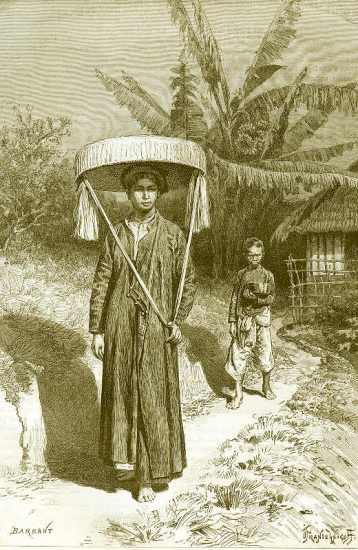 Phụ nữ An Nam trong trang phục ngày hội.