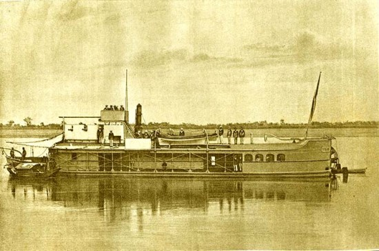 Pháo hạm Claparède Eclair, được sử dụng trong cuộc chinh phục Đông Dương.
