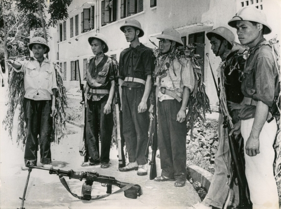Một đơn vị dân quân tự vệ của miền Bắc Việt Nam.