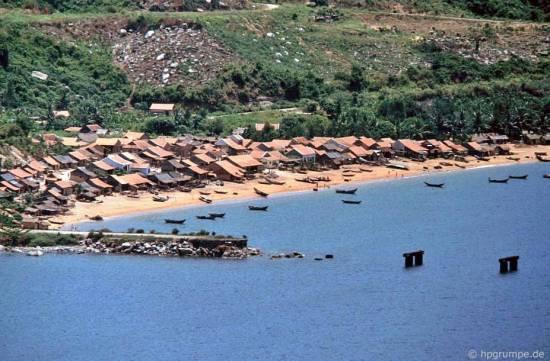 031.Quốc lộ 1 là đập và đánh cá Đại Lãnh