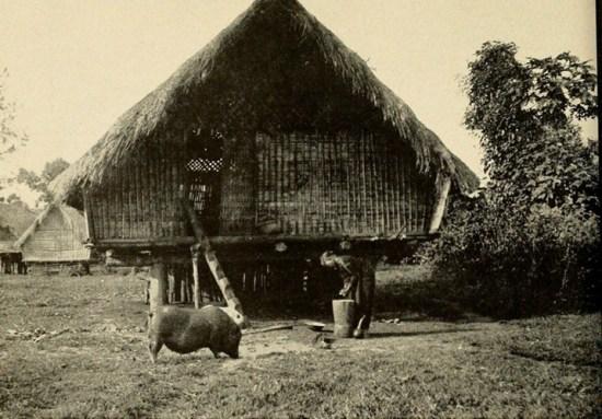 Nhà dài của người Ê Đê ở Ban Mê Thuột, Đăk Lăk.