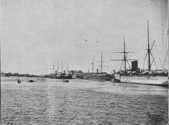 Cảng Sài Gòn thời thuộc địa.