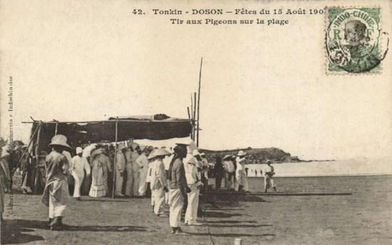 Lễ hội bắn chim bồ câu của người Pháp ở Đồ Sơn thời thuộc địa.
