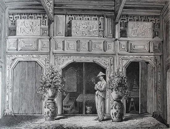 Mặt tiền ngôi nhà của người giàu An Nam.