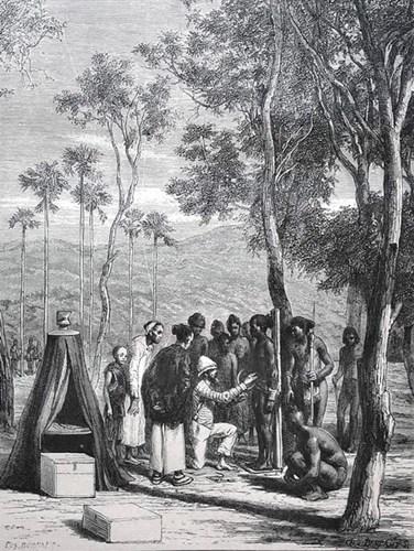 Tiến sĩ Harman khảo sát về nhân học tại một sắc tộc thiểu số ở Attapeu, Đông Nam Lào.
