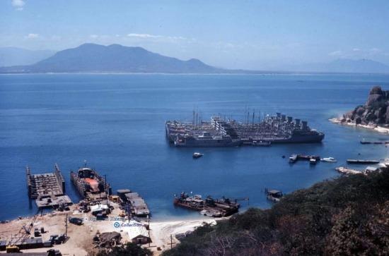 Một góc căn cứ hải quân Mỹ trên bãi Hòn Lương, Cam Ranh.