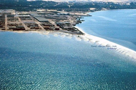 Cồn Xứng - một doi đất hẹp đâm ra vịnh Cam Ranh.