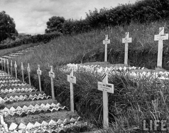Nghĩa trang chôn 600 quân Pháp bị lính Nhật giết hại trong xung đột ở Đông Dương thời gian Chiến tranh thế giới II.