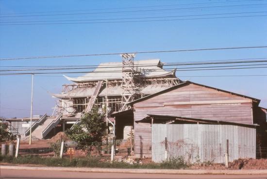 Chùa Vĩnh Nghiêm đang trong quá trình xây dựng.